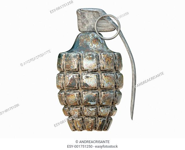 grenade isolated on white background