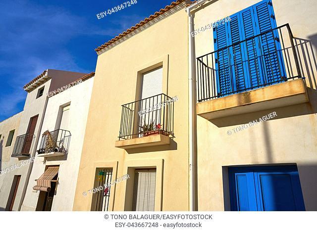 Nova Tabarca island facades in Alicante Spain