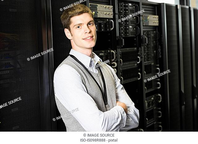 Portrait of a male computer technician