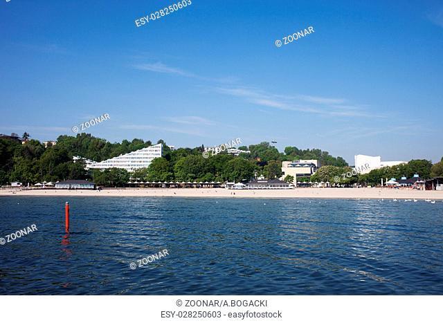 Baltic Sea Beach in Gdynia