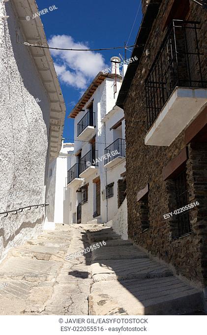 Street of Capileira, Las Alpujarras, Granada province, Andalusia, Spain