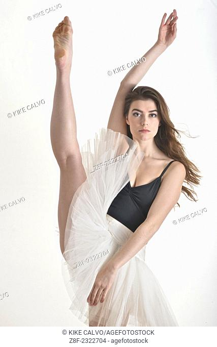 Portrait of a young dancer in her early twenties