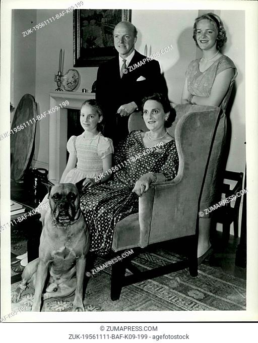 Nov. 11, 1956 - Britain's new Ambassador arrives next week: Sir Harold Caccia, a career diplomat, married since 1932, father of a son and two daughters