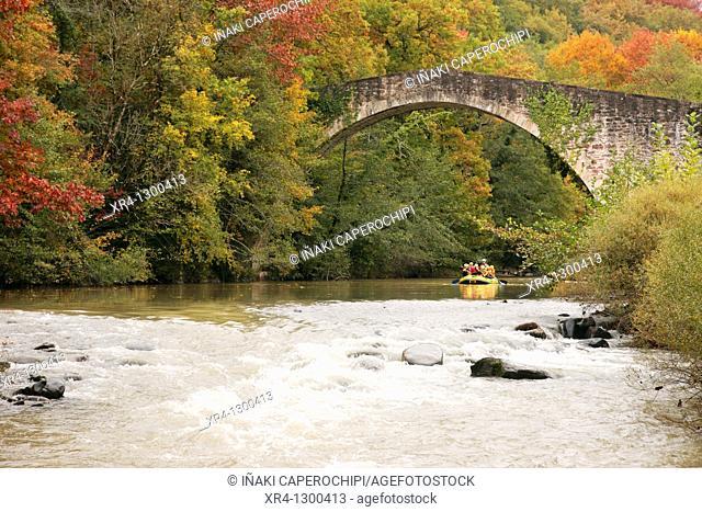 Reparacea Bridge, Bertiz Natural Park, Oieregi , Navarra Nafarroa, Spain España