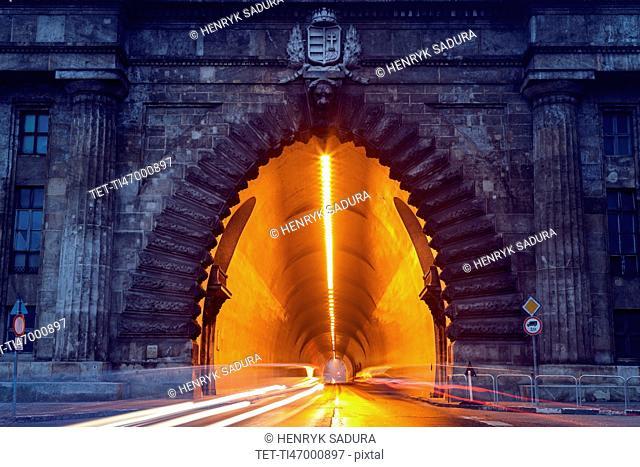 Tunnel under Sandor Palace