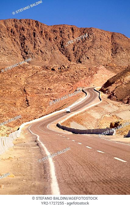 Road to Saint Catherine's Monastery in the Sinai desert, Egypt