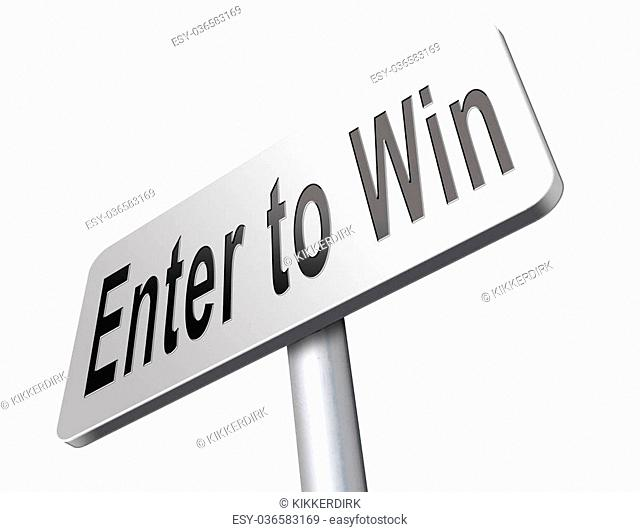 enter to win game contest lottery or competition
