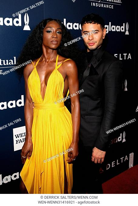 28th Annual GLAAD Media Awards held at New York Hilton Midtown - Arrivals Featuring: Angelica Ross, guest Where: New York, New York