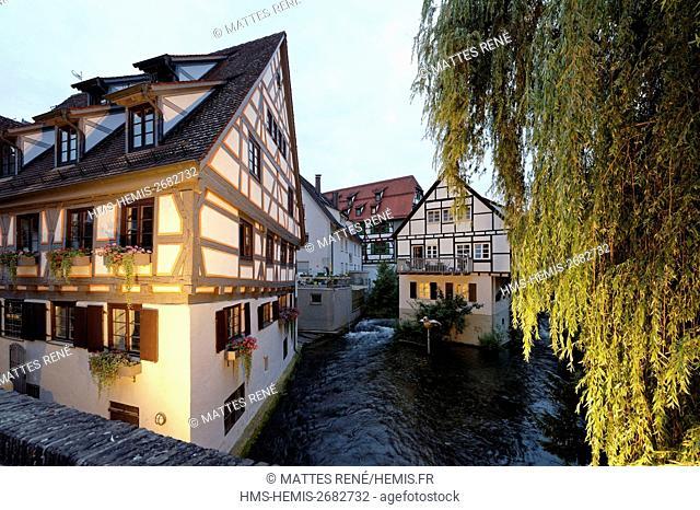 Germany, Bade Wurtemberg, Ulm, Albert Einstein' s birthplace, Fischerviertel, fishermen and tanners district