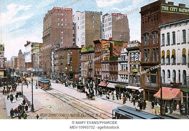 Main Street (looking north), Buffalo, New York State, USA