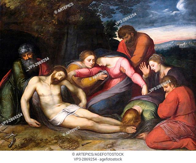 Otto van Veen, aka Otto Venius. Lamentation of christ. XVI th century. Paris - Louvre Museum. Flemish school. Oil on canvas