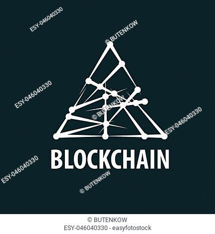 Vector logo blockchain. Abstract technological sign. Design element