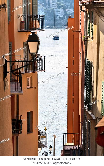 Europe, France, French Riviera, Alpes-Maritimes, Villefrance-sur-Mer. The old town