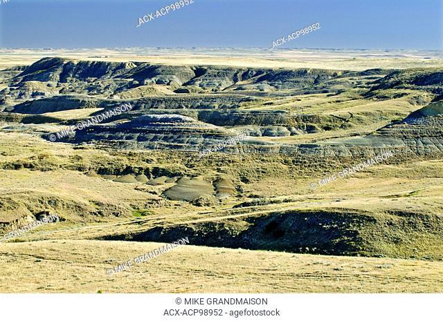 Killdeer Badlands in East Block Grasslands National Park Saskatchewan Canada