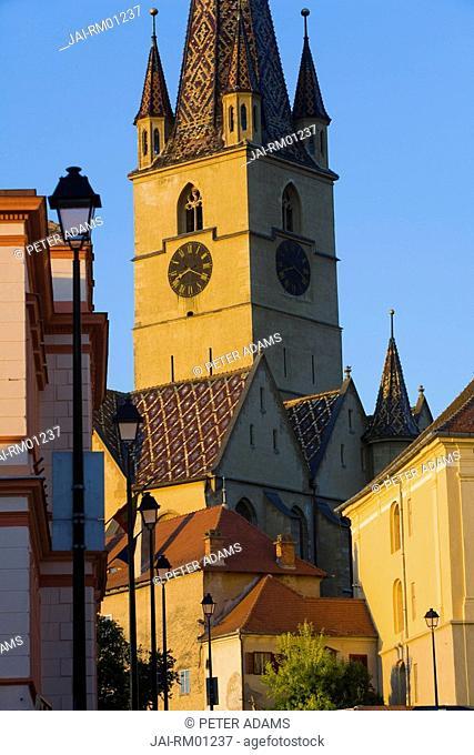 Evangelical Church, Piata Huet, Sibiu, Transylvania, Romania