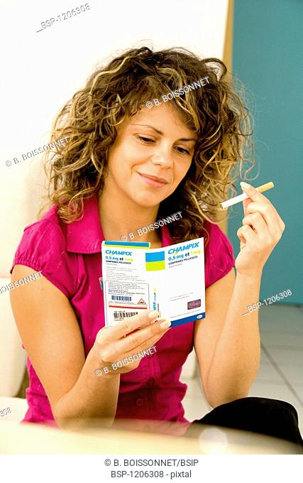 SMOKING TREATMENT WOMAN Champix (active molecule : Varenicline) Champix is a drug recommended in the framework of tobacco withdrawal (date of authorization of...