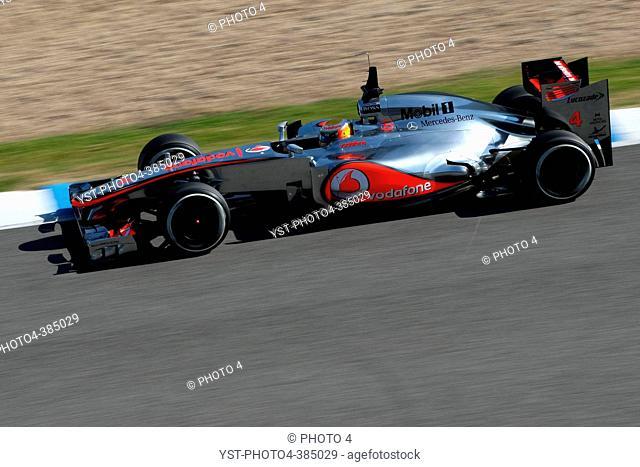Lewis Hamilton GBR, McLaren Mercedes, F1 Testing Jerez de la Frontera, Spain 7-10 February 2012