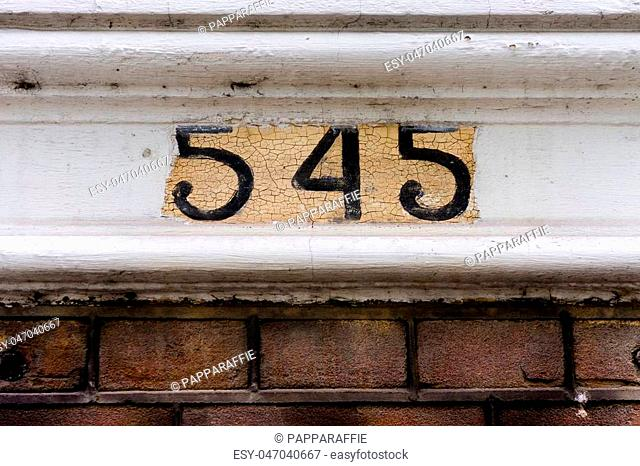 House number five hundred and forty five (545)