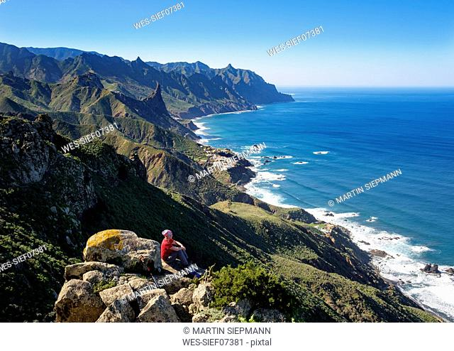 Spain, Canary islands, Tenerife, Anaga mountains, coast and village Almaciga