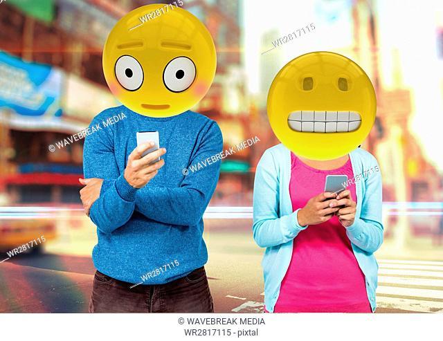 wrong sentences in whatsApp. Emoji face