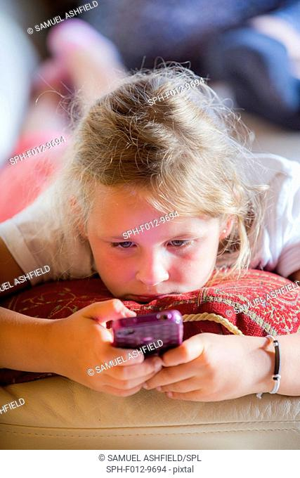 Girl using a smartphone