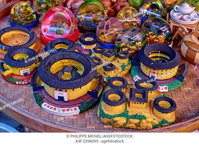 China, Fujian province, Taxia village, souvenir shop