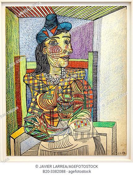 """Dora Maar assise"", 1938, Pablo Picasso, Picasso Museum, Paris, France, Europe"
