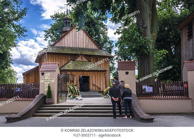 Wooden Church of Saint Giles in Zrebice village in Silesian Voivodeship of southern Poland