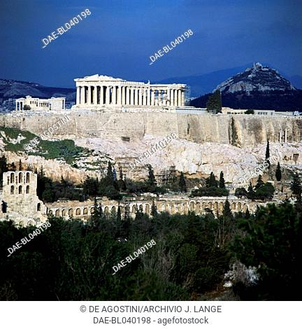The Acropolis in Athens and the Parthenon (UNESCO World Heritage List, 1987), Greece. Greek civilisation, 5th century BC
