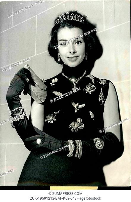 Dec. 12, 1959 - Famous Manikin Fabienne Wears 200 Millions Francs: Famous Parisian Manikin Fabienne Recently Crowned 'The Most Beautiful Lips In Paris'...