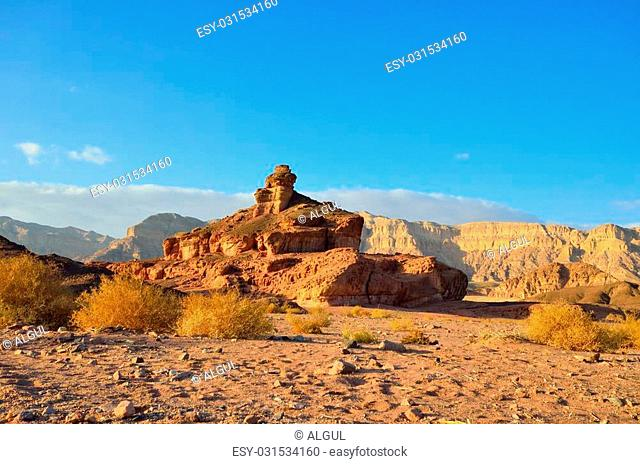 The Spiral Hill in Timna Valley, the southwestern Arabah, Israel