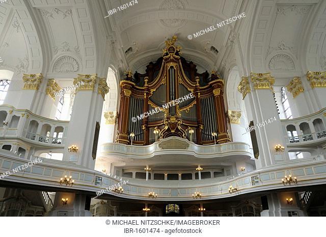 Organ, St. Michael's Church, Michel, Hamburg, Germany, Europe