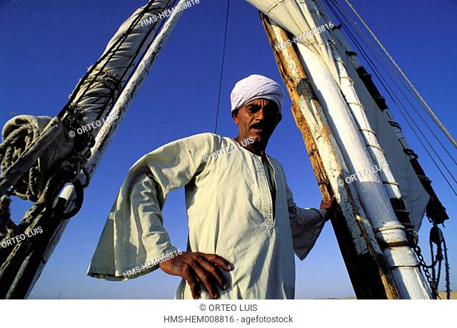 Egypt, Aswan, felucca and its captain
