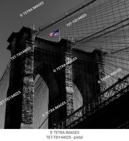 USA, New York, New York City, Brooklyn Bridge