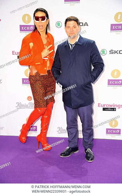 ECHO music awards 2015 at Palais am Funkturm. - Arrivals Featuring: Jorge Gonzalez, Tim Maelzer Where: Berlin, Germany When: 26 Mar 2015 Credit: Patrick...
