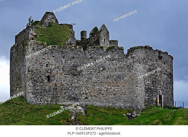 Castle Tioram on the tidal island Eilean Tioram in Loch Moidart, Lochaber, Scottish Highlands, Scotland
