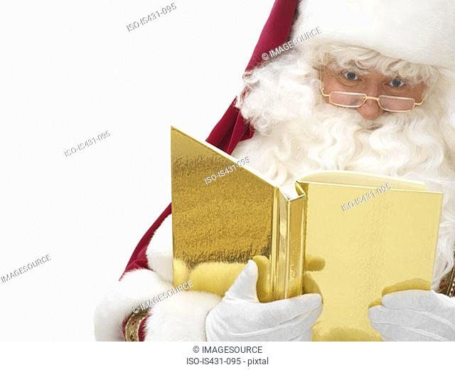 Santa claus with a book
