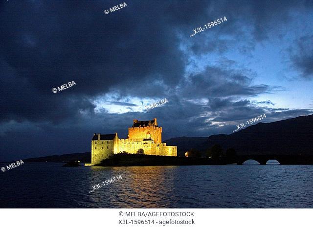Eilean Donan Castle in Scotland   Dornie  Scotland  United Kingdom