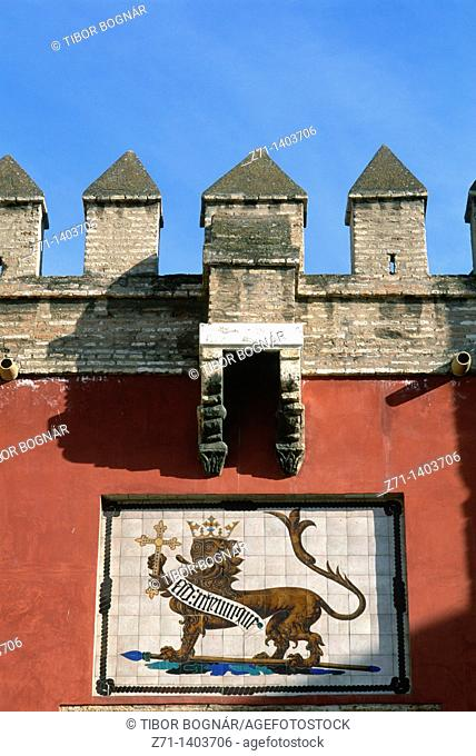 Spain, Andalusia, Sevilla, Alcazar, gate