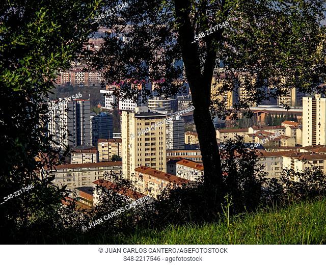Views from Mount Artxanda Bilbao. Bilbao. Vizcaya. Basque Country. Spain. Europe