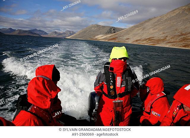 Kamchatka Cruise on Ponant company Soleal cruise ship, departure from Nome, Alaska, to Petropavlosk, landing in Yttigran