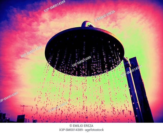 Outside shower,