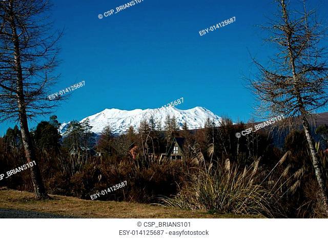 Mount Ruapehu, from National Park, New Zealand