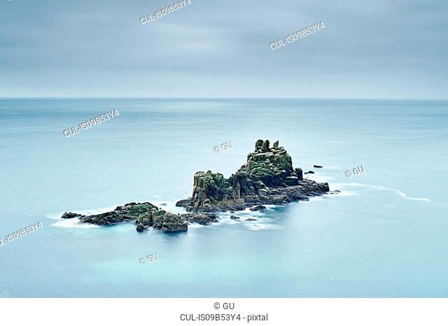 Seascape with rock formations, Land's End, Cornwall, UK