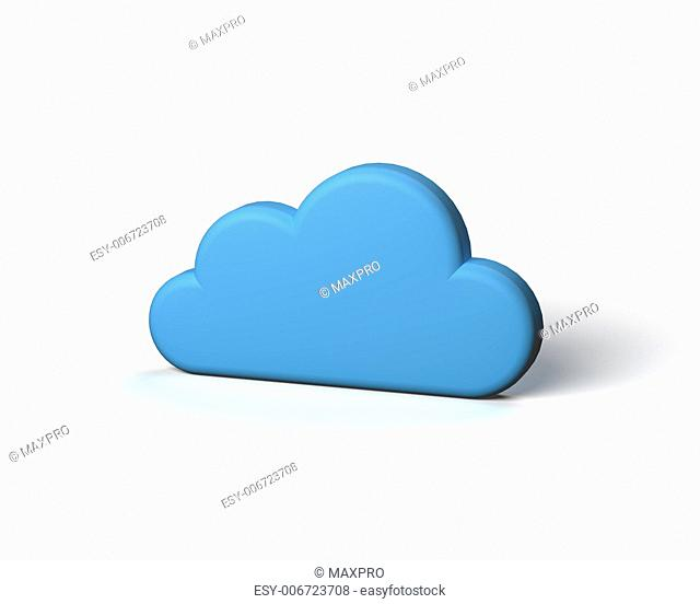 Blue Abstract Cloud on the White Background. Cloud Icon