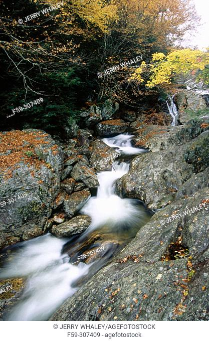 Waterfall in Pisgah National Forest. North Carolina, USA