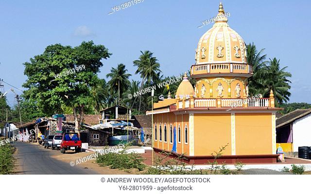 Small Hindu temple near Anjuna Beach Goa India
