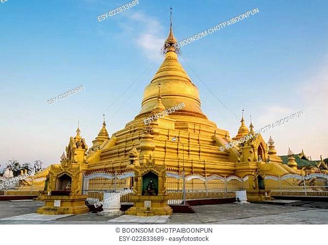 Kuthodaw Pagoda in Mandalay, Myanmar