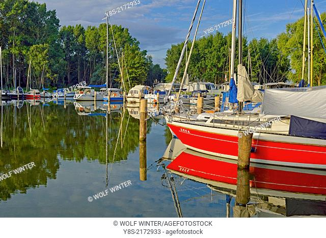 Campground and natural Port at Stagniess, Usedom, Germany