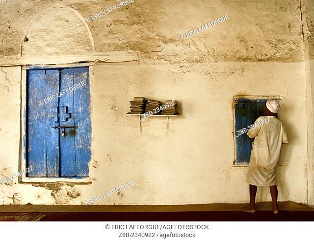 Man Turned Toward The Wall In The Mosque, Zabid, Yemen